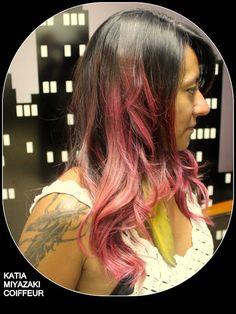Katia Miyazaki Coiffeur - Salão de Beleza em Floripa: rosa escuro - pink hair - cabelo rosa - ombre rosa...