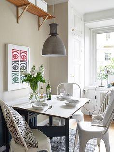 50 Scandinavian ideas to transform your home into chic living Kitchen Interior, Interior Design Living Room, Interior Decorating, Apartment Kitchen, Room Inspiration, Interior Inspiration, Tiny Dining Rooms, Urban Kitchen, Kitchen Nook