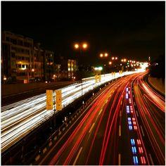Tehran at night #tehran #night #light #highway