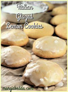 lemon glazed cookies resting on a paper bag Italian Cookie Recipes, Italian Cookies, Italian Desserts, Vegan Recipes, Italian Foods, Bar Recipes, Italian Dishes, Lemon Glazed Cookies, Delicious Desserts