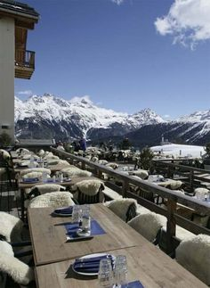 Kempinski Grand Hotel des Bains in St Moritz, Switzerland.  Spent many an afternoon here.