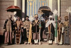 Addis Ababa, Ethiopia, Clergymen pose in ceremonial attire outside of a cathedral. 125 years of national geographic All About Africa, Haile Selassie, Warrior Pose, Mode Costume, National Geographic Society, African Countries, Saint George, Poses, The St