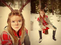 Deer makeup for the deer costume