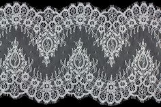 "Britex Fabrics -  10"" White Chantilly Galloon Lace - Chantilly - Lace & Trim"
