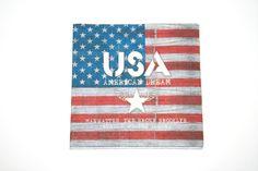 1 Serviette en papier Drapeau Américain USA pour serviettage / decopatch : Serviettage, Décopatch par boutique-creative-by-c-dona