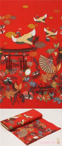 """chino Oriental Estilo 100/% Tela De Algodón 60/"""" de ancho de diseño impresionante! Japonés"""