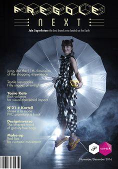 cover of printed magazine Fregole featuring with Yojiro Kake origami one piece shirt dress