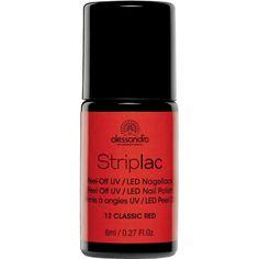 Alessandro Striplac 12 Classic Red. De nieuwe generatie nagellakken. Zonder droogtijd en de nagel ontziend verwijderen zonder oplosmiddel of vijlen.
