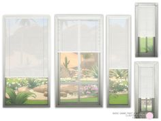 Custom Blinds Medium. Contemporary and Traditional Cordless Two Tone Blinds, shown with White backside. Made of Metal with Plastic hardware in 4 colors. 15 Sims 4 Blinds by DOT of The Sims...