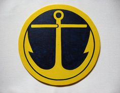 Anchor hex sign for nautical decor