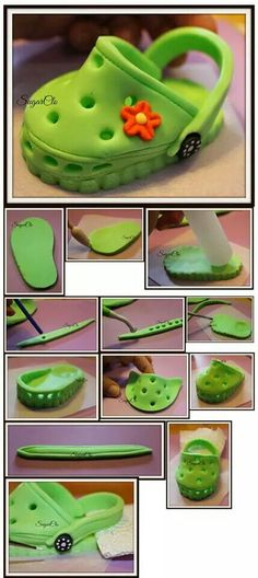 Fondant crocs - For all your cake decorating supplies, please visit craftcompany.co.uk