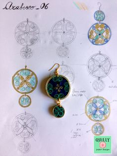 """Paper Earring """"Arabesco_06"""" by QuillyPaperDesign"""
