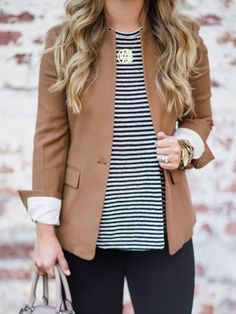 How to style a Blazer for fall work outfit Casual Work Outfits, Business Casual Outfits, Business Attire, Office Outfits, Work Attire, Work Casual, Fall Work Outfits, Business Chic, Black Blazer Business Casual