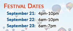 Plano hot air balloon festival dates/times