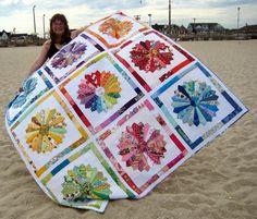 Quilty Habit: Dresden Rainbow: My Finished Wedding Quilt