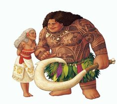Older Moana and Maui. Pardon me as I go cry in the corner.