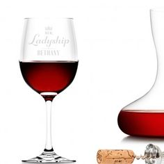 Our beautifully personalised wine glasses are the perfect for all special celebrations. Personalized Wine Glasses, Wine Glass Set, Wine O Clock, Glass Collection, Red Wine, Barware, Alcoholic Drinks, Collections, Wine Goblets