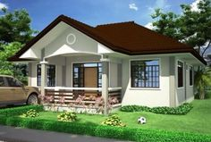 Want to have a beautiful house but you have a narrow lot? Here are some small house plans for you to check out! Simple Bungalow House Designs, Bungalow Haus Design, Small Bungalow, Simple House Design, Bungalow House Plans, Small House Plans, Philippines House Design, House Design Pictures, Beautiful House Plans