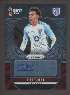 2018 Panini Prizm World Cup Signatures Dele Alli England Auto Soccer Card Soccer Cards, Baseball Cards, Dele Alli, Wayne Rooney, World Cup 2018, Fifa, Auction, England, Discount Price