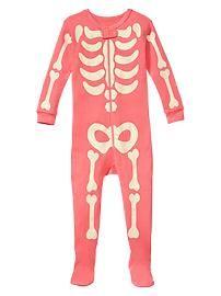 Skeleton sleep footed one-piece
