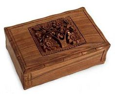 Kashmiri hand carved floral wooden box(Chinar) Price:2,700