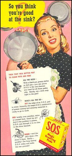 Just keep scrubbing, dear.