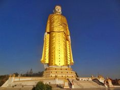 Laykyun Setkyar (Khatakan Taung, Myanmar) The second tallest statue in the world, runner-up to the Spring Temple Buddha, is the 116-meter Laykyun Setkyar. Construction of the statue, which depicts the Gautama Buddha, took nearly 12 years. Two smaller Buddhas (sizable in their own right) can be found nearby.