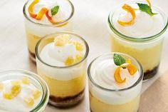 Slow Cooker Mini Orange and Ginger Cheesecakes