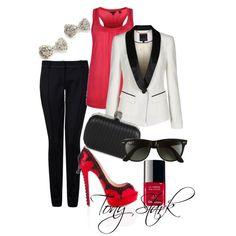 red, black, & white<3