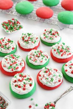 10 Christmas Cookie Recipes you can make for Santa! Everything from Eggnog Cookies, to Lofthouse Style Soft Sugar Cookies, to Mint Chocolate Chip Cookies. Make any of the cookie recipes on Christmas Eve and Santa won't be disappointed! | http://SeasonlyCreations.com | @SeasonlyBlog