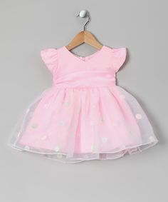 Look at this #zulilyfind! Pink Polka Dot Banded Dress - Infant & Toddler by the Silly Sissy #zulilyfinds