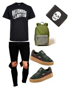 """Creepers"" by misfitpapi on Polyvore featuring Reclaimed Vintage, Billionaire Boys Club, Puma, Hollister Co., Volcom, men's fashion and menswear"
