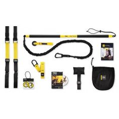 TRX Training Bundle featuring BOTH the TRX Suspension Trainer, the TRX Rip Trainer and both of their basic training DVD's with hour's worth of real-time workouts, is everything you'll need. If you are serious about making your body your machine this bundle, just try it.