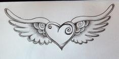 tatuaje de corazon a lapiz