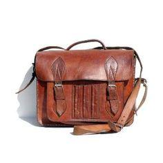 vintage leather hand or shoulder bag by myfavoritevintage on Etsy