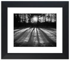 """11"""" x 14"""" Traditional Photography Prints / Wall Décor Landscape Photograph: Winter Shadows from the Trees on the Snow at Sunset. View all of the stunning Landscape Photos by Nature and Landscape Photographer Melissa Fague at:  https://www.etsy.com/shop/PIPAFineart Limited Edition Fine Art landscape photography prints and canvas wraps are also available in a variety of sizes."""