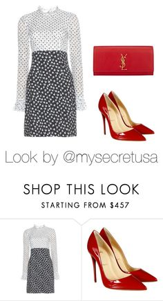 A little red by my-secret on Polyvore featuring moda, Dolce&Gabbana, Christian Louboutin and Yves Saint Laurent