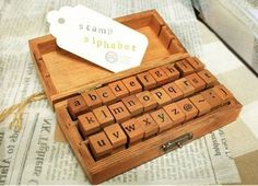 Lower case 28 Pcs Alphabet Stamps Vintage Wooden Rubber Letter and Symbol Stamp Set for DIY Craft Card Making Happy Planner Scrapbooking Supplies