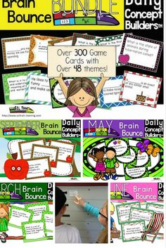 Great way to incorporate science and social studies! Each individual Word of the Day Bounce Game is normally $3.50. This fantastic bundle of fun word of the day vocabulary games is based on our Word of the Day Calendar series. Each month has word of the day task cards with questions about monthly vocabulary. The cards can also be used for Scoot and even as Exit Cards. Included in each month: -28, 29, 30, or 31 word of the day cards(dependent on month