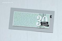 Geburtstagskarte zum 30. in Minzmakrone