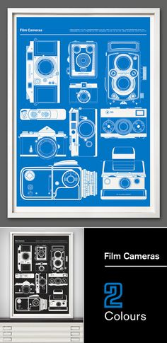 The sixth in our 'Blueprint' series celebrates and is inspired by classic film cameras.From the sought after Ilford Witness 1952 rangefinder to the Leica M6 from 1984 we have picked ten of the most iconic and, in our opinion, important analog cameras, all represented in plan view as part of our continuing series.Take a look here More of the 'Blueprints' series here