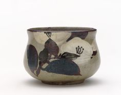 Kenzan-style incense burner with design of camellia late 18th to early 19th century Ogata Kenzan , (Japanese, 1663-1743) Edo period Buff clay; white slip, iron and cobalt...