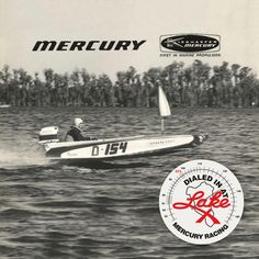 "SET OF 2 MERCURY RACING /""DIALED IN AT LAKE X/"" DECAL MARINE GRADE"