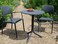 Bora Chairs and Step Round Table to beautify your space.