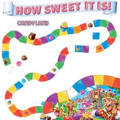 candyland themed classroom | Home Candy Land™ How Sweet Mini Bulletin Board Set