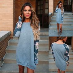 Take the easy route to in effortlessly chic styles  Grey Vintage Floral Sleeve Tunic  + Use code: TUES10 for 10% off today! #dottiecouture #newarrivals #shopnow #musthave #couponcode #boutique
