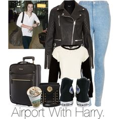Airport With Harry. by welove1 on Polyvore featuring moda, Topshop, Converse, River Island and Versus