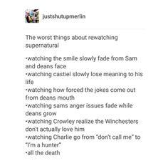 supernatural tumblr textpost destiel cockles castiel cas dean winchester sam winchester