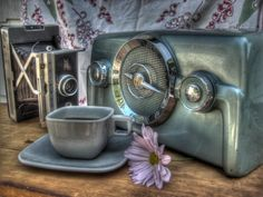 Vintage Radio photo Coffee Cup photography by FengShuiPhotography #vintage #radio #coffee