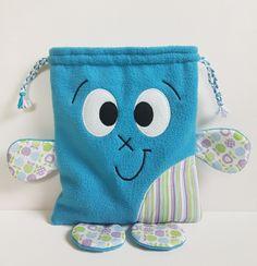 Sac baluchon rigolo pour enfant - sac à doudou - sac à chausson - sac à goûter - idéal maternelle et crèche : Sacs enfants par solylan